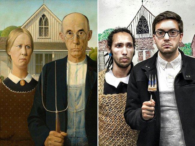 Забавная пародия от друзей на шедевры живописи