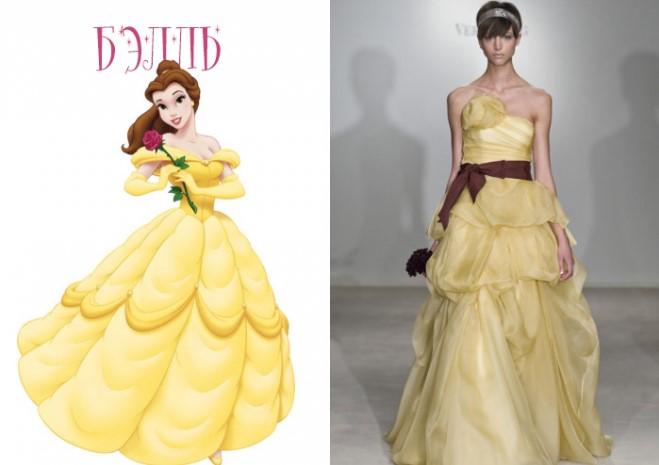 Дизайнеры создали платья в стиле Дисней