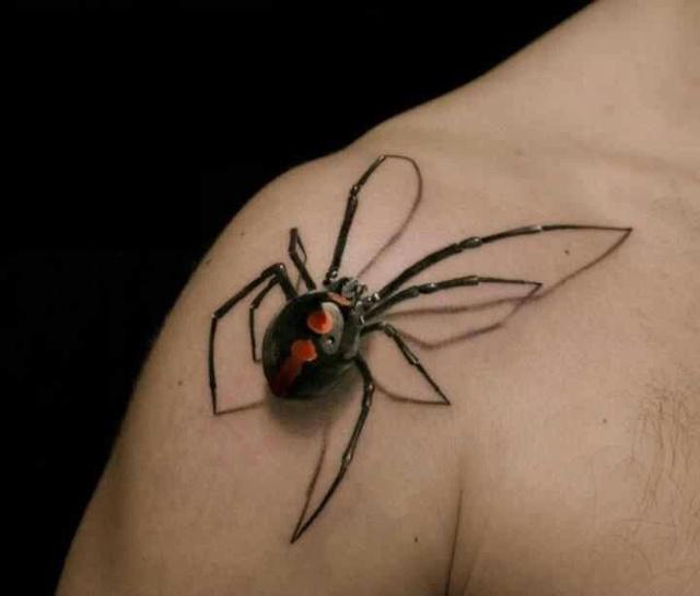 Невероятные и жутковатые 3D тату