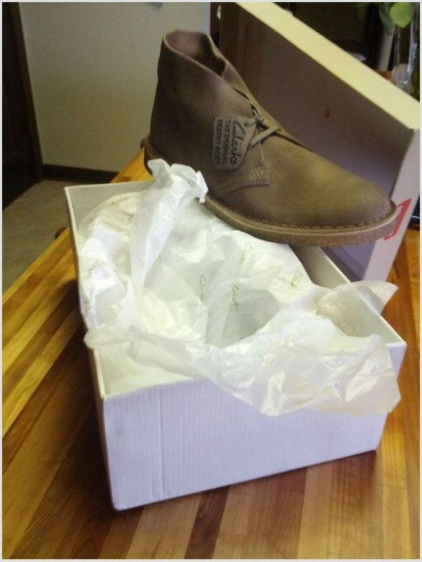 А второй ботинок в другом подарке. Как необычно запаковать подарок
