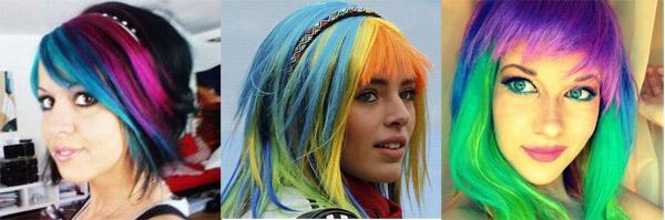 Фото прикольных цветов волос